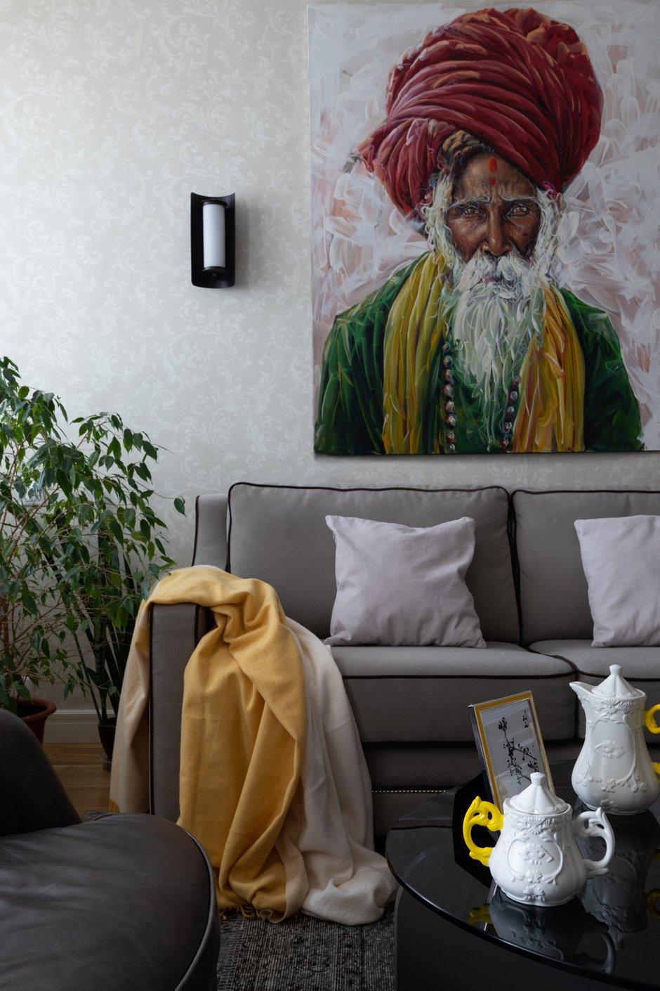 Фотография: Гостиная в стиле Современный, Квартира, Проект недели, Самара, Кирпичный дом, 4 и больше, Более 90 метров, Lumus Design, Любовь Пивоварова – фото на INMYROOM