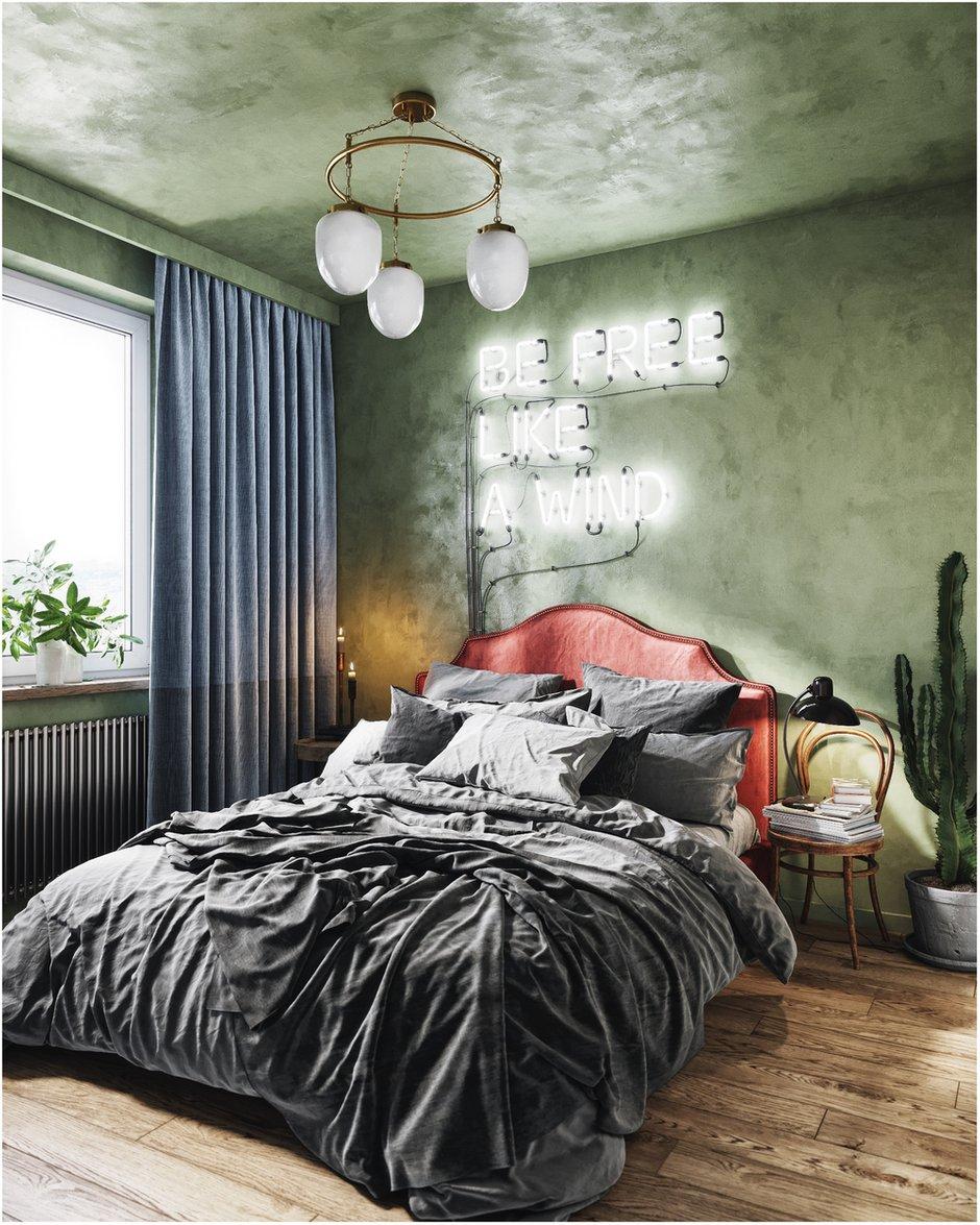 Фотография: Спальня в стиле Лофт, Эклектика, Квартира, Проект недели, Санкт-Петербург, Макс Жуков, ToTaste Studio, 2 комнаты, 3 комнаты, 40-60 метров, 60-90 метров – фото на INMYROOM