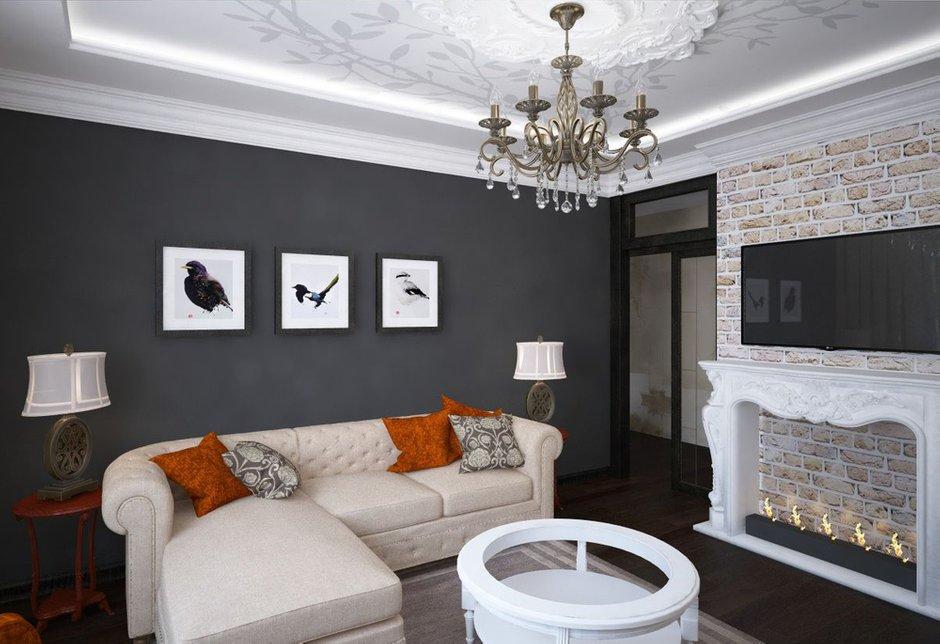 Фотография: Гостиная в стиле Прованс и Кантри, Эклектика, Классический, Квартира, Проект недели – фото на INMYROOM