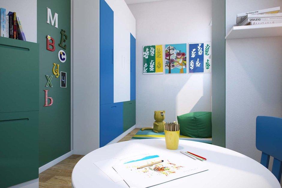 Фотография: Детская в стиле Минимализм, Квартира, Планировки, Проект недели, Москва, Зеленый, Степан Бугаев, «Победа дизайна» – фото на INMYROOM