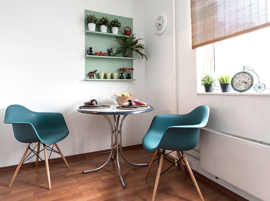 Фотография:  в стиле , Скандинавский, Квартира, IKEA, Проект недели, Москва, Dulux, Анна Ковальченко, 1 комната, до 40 метров – фото на INMYROOM