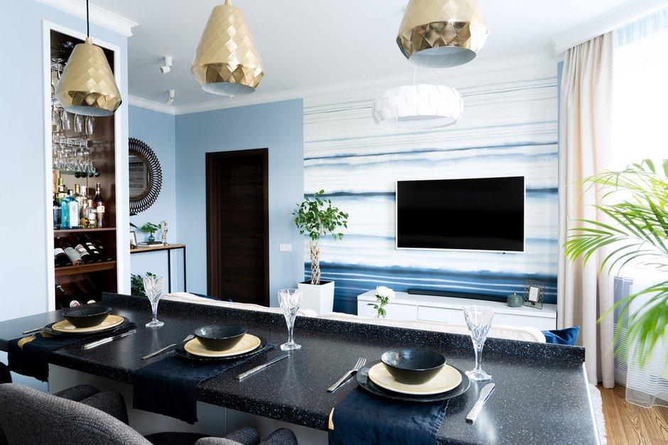 Фотография: Гостиная в стиле Современный, Квартира, Проект недели, Санкт-Петербург, Светлана Гаврилова, Монолитный дом, 3 комнаты, 60-90 метров – фото на INMYROOM