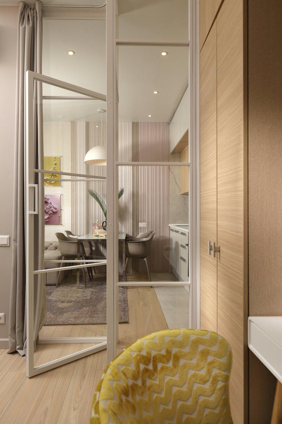 Фотография: Спальня в стиле Современный, Малогабаритная квартира, Квартира, Проект недели, Москва, 1 комната, до 40 метров, Своя атмосфера – фото на INMYROOM