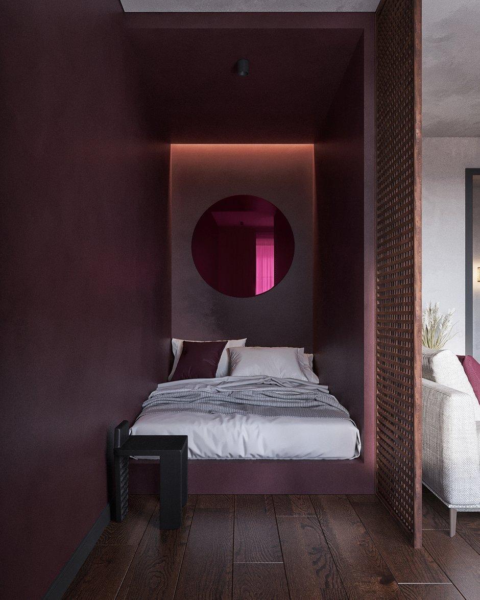 Фотография: Спальня в стиле Лофт, Эклектика, Квартира, Проект недели, Челябинск, 1 комната, до 40 метров, 40-60 метров, Tenso Interiors – фото на INMYROOM