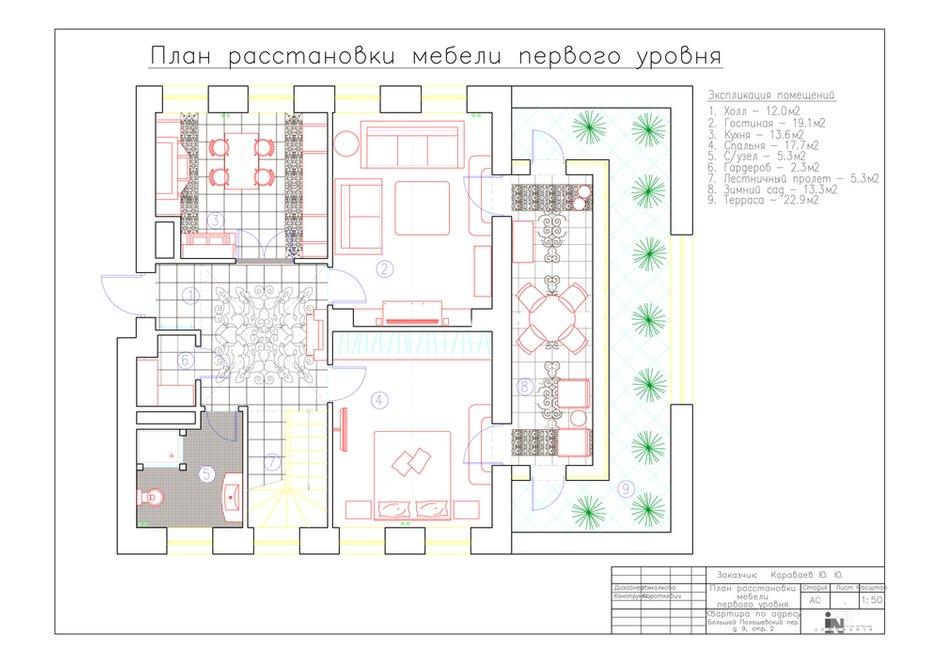 Фотография: Планировки в стиле , Классический, Квартира, Проект недели, Москва, Наталия Куретнева, Юлия Корнилова, DOMINANTA interior design & decoration, новостройка, Кирпичный дом, 4 и больше, Более 90 метров – фото на INMYROOM