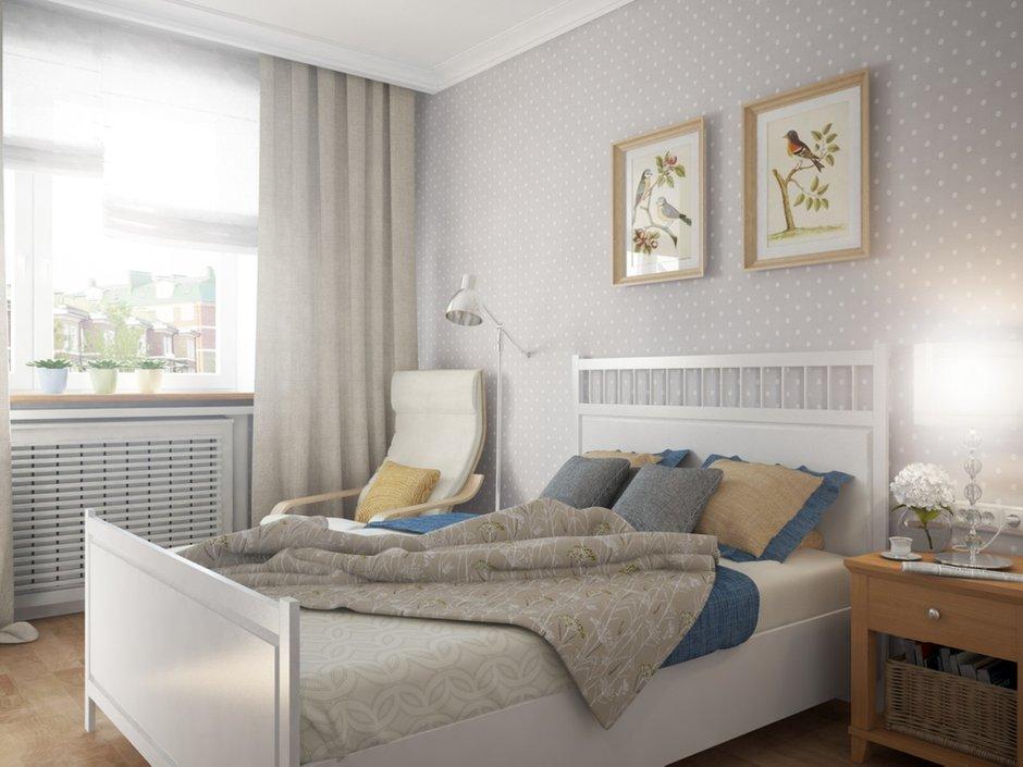 Фотография: Спальня в стиле Прованс и Кантри, Квартира, Цвет в интерьере, Дома и квартиры, Белый, Проект недели – фото на INMYROOM