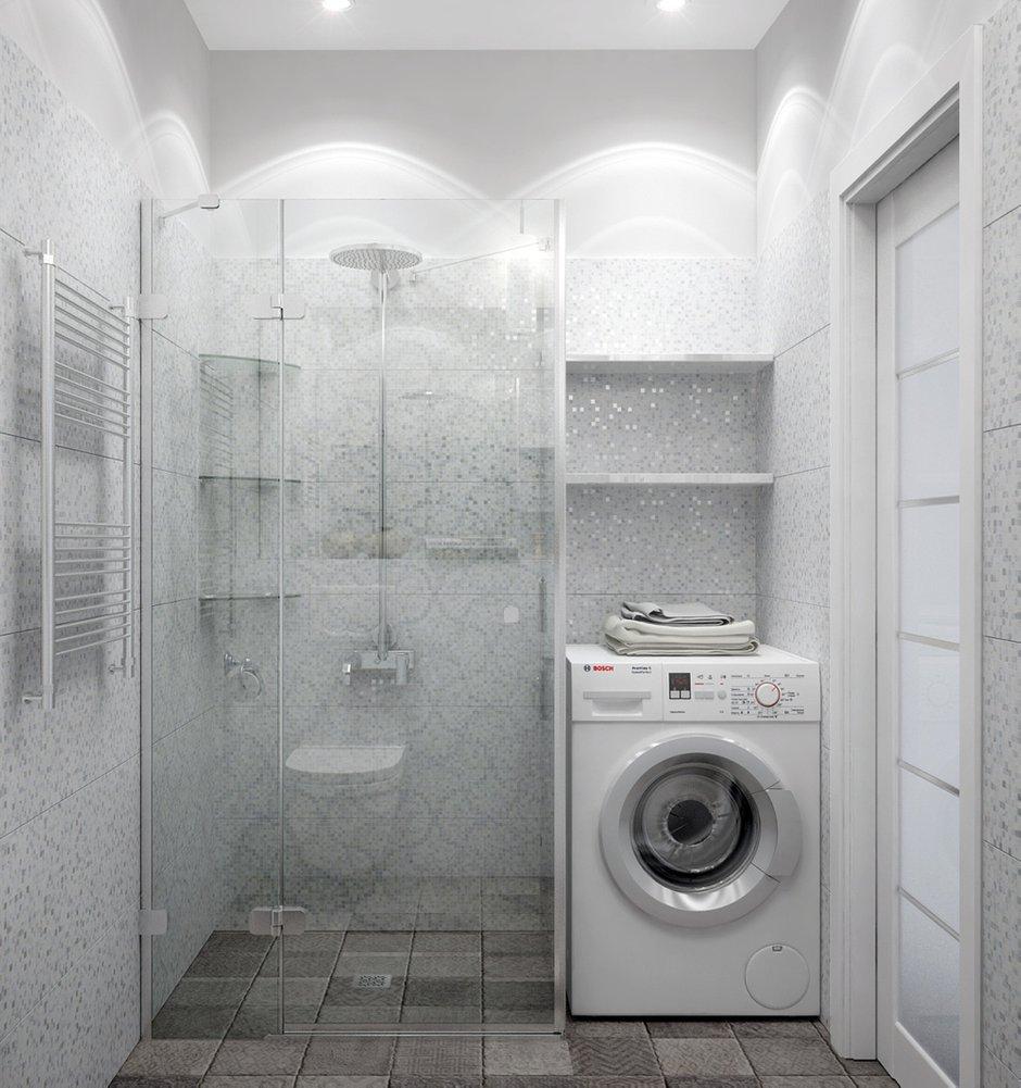 Фотография: Ванная в стиле Современный, Квартира, Цвет в интерьере, Дома и квартиры, Белый, Проект недели – фото на INMYROOM