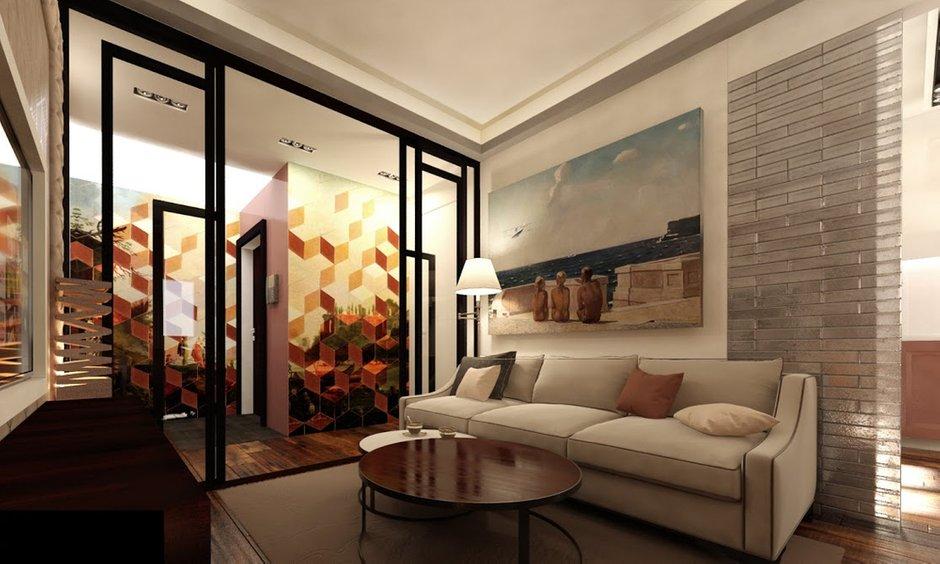 Фотография: Гостиная в стиле Восточный, Эклектика, Квартира, Дома и квартиры, Проект недели, Москва – фото на INMYROOM