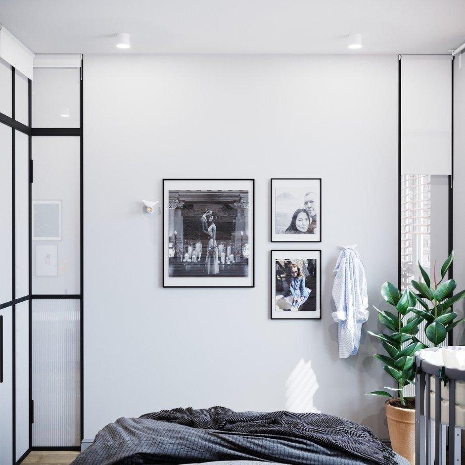 Фотография: Спальня в стиле Скандинавский, Кухня и столовая, Прихожая, Гостиная, Лофт, Квартира, Проект недели, Серый, 2 комнаты, до 40 метров, Студия 20:18 – фото на INMYROOM