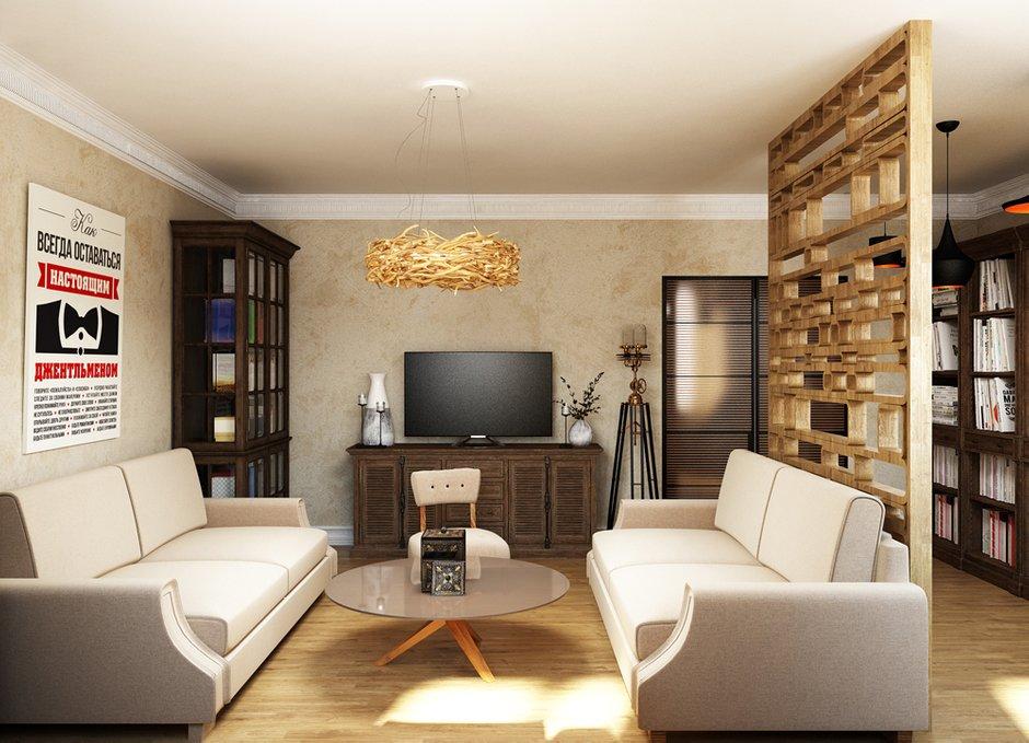 Фотография: Гостиная в стиле Лофт, Эклектика, Квартира, Проект недели, Эко – фото на INMYROOM