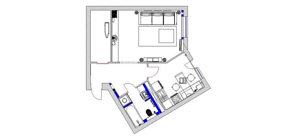 Фотография: Планировки в стиле , Квартира, Дома и квартиры, Минимализм, Проект недели – фото на INMYROOM