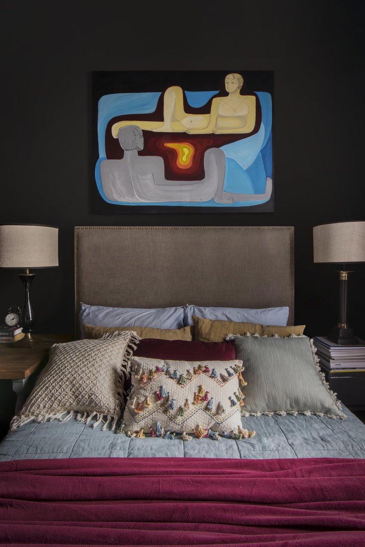 Фотография: Спальня в стиле Эклектика, Квартира, Проект недели, Москва, 1 комната, 2 комнаты, до 40 метров, 40-60 метров, Наталия Турченко – фото на INMYROOM