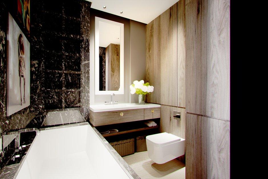 Фотография: Ванная в стиле , Малогабаритная квартира, Квартира, Дома и квартиры – фото на INMYROOM