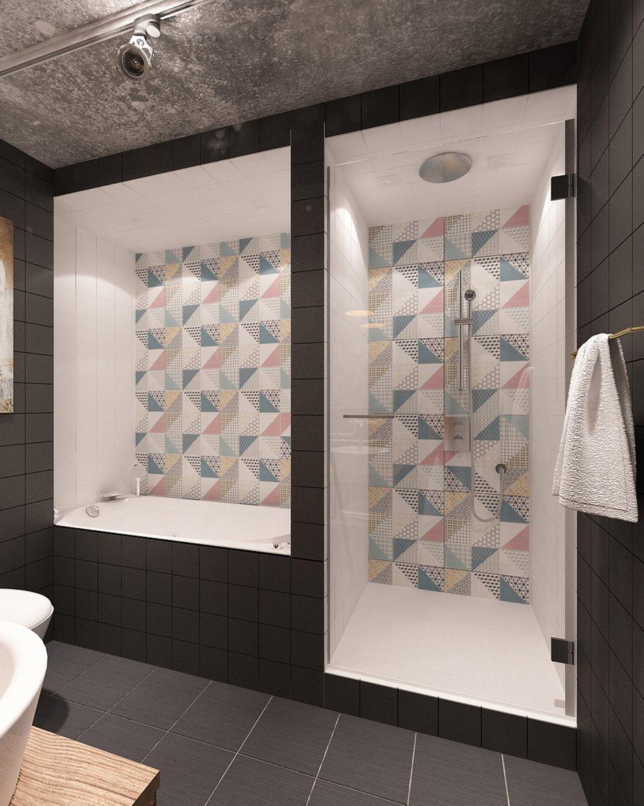 Фотография: Ванная в стиле Лофт, Квартира, Дома и квартиры, IKEA, Проект недели, Cosmorelax – фото на INMYROOM