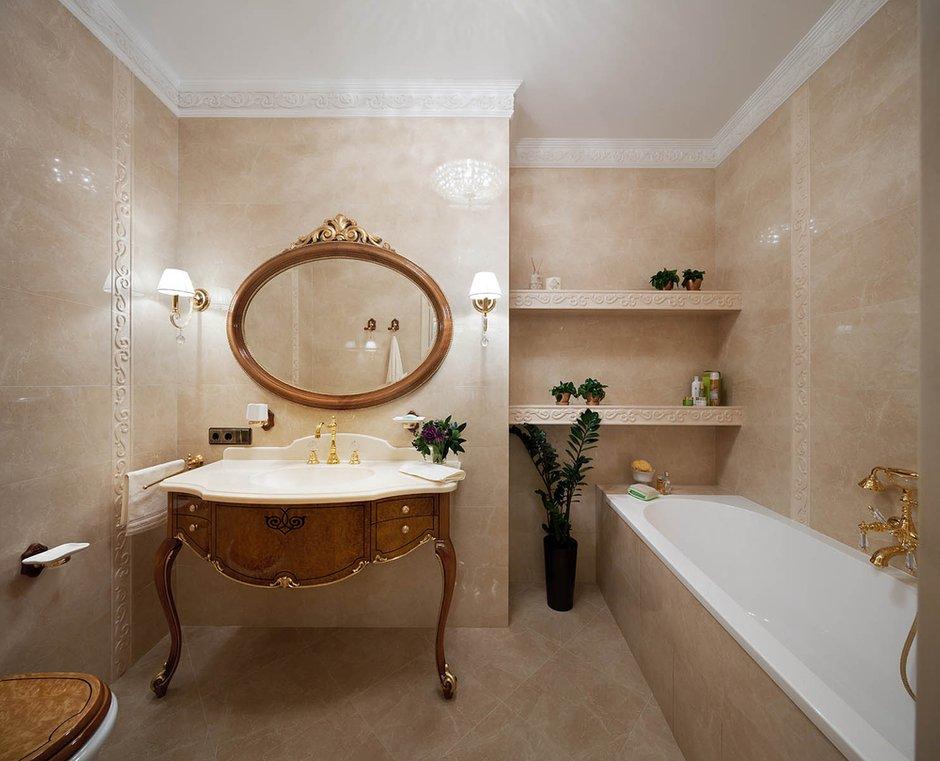Фотография: Ванная в стиле Классический, Квартира, Проект недели – фото на INMYROOM