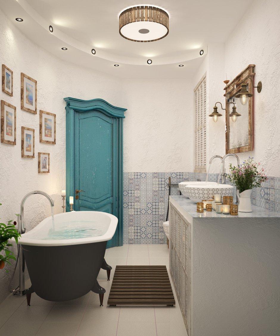 Фотография: Ванная в стиле Восточный, Квартира, Дома и квартиры, Проект недели, Средиземноморский – фото на INMYROOM
