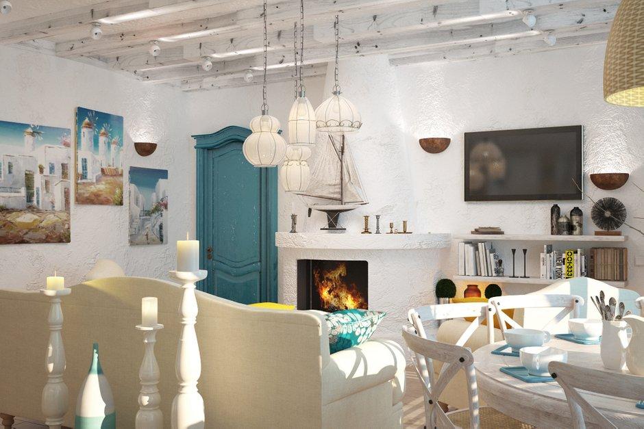Фотография: Гостиная в стиле Прованс и Кантри, Квартира, Дома и квартиры, Проект недели, Средиземноморский – фото на INMYROOM