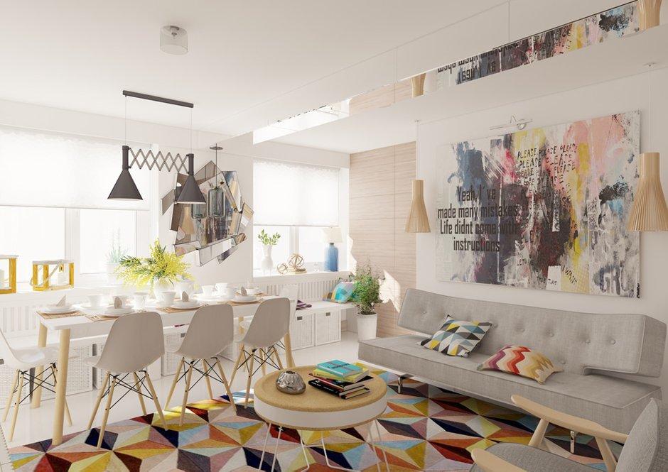 Фотография: Гостиная в стиле Лофт, Квартира, BoConcept, Дома и квартиры, Проект недели – фото на InMyRoom.ru