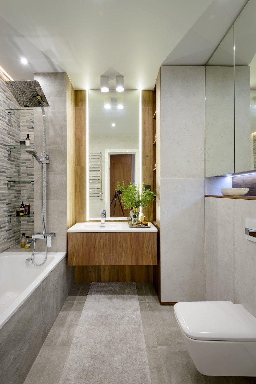 Фотография: Ванная в стиле Современный, Квартира, Проект недели, Монолитный дом, 3 комнаты, Более 90 метров, Полина Степанова, D'POLLY – фото на INMYROOM