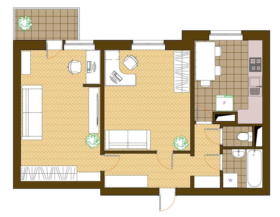 Фотография: Планировки в стиле , Квартира, Дома и квартиры, Перепланировка, П-3 – фото на INMYROOM