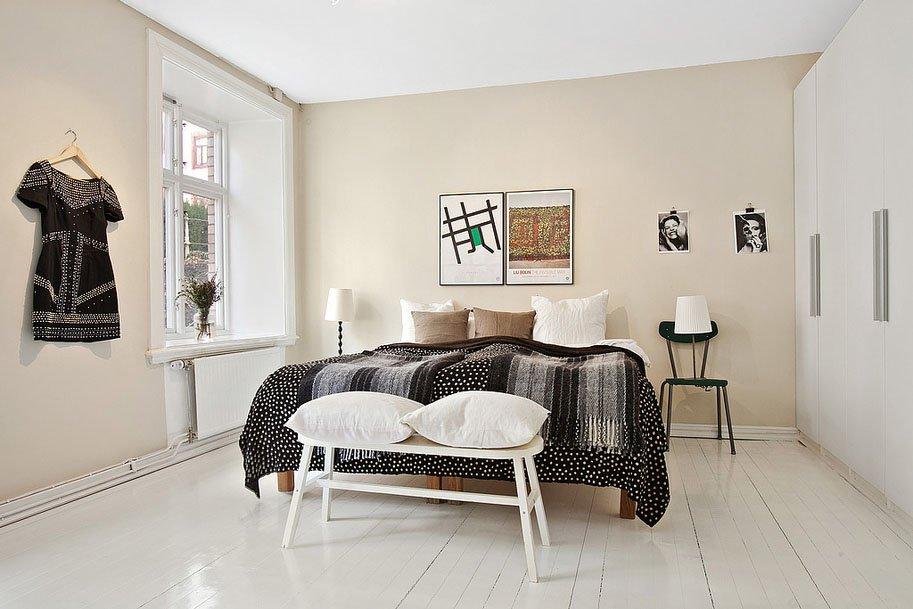 Фотография: Спальня в стиле Скандинавский, Восточный, Лофт, Квартира, Цвет в интерьере, Дома и квартиры, Белый, Проект недели – фото на INMYROOM