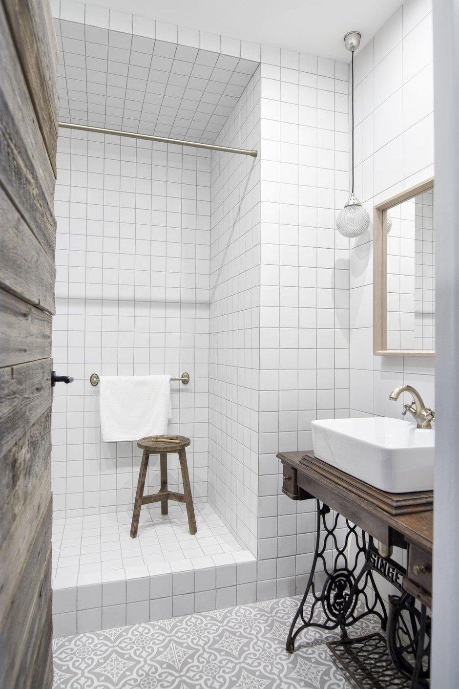 Фотография: Ванная в стиле Лофт, Квартира, Студия, Проект недели, Москва, Кирпичный дом, до 40 метров, INT2architecture – фото на INMYROOM