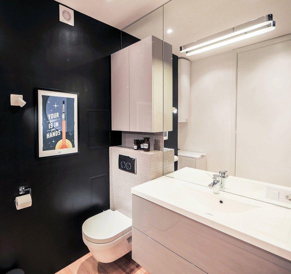 Фотография: Ванная в стиле Лофт, Современный, Квартира, Дома и квартиры, IKEA, Минимализм, Проект недели – фото на INMYROOM