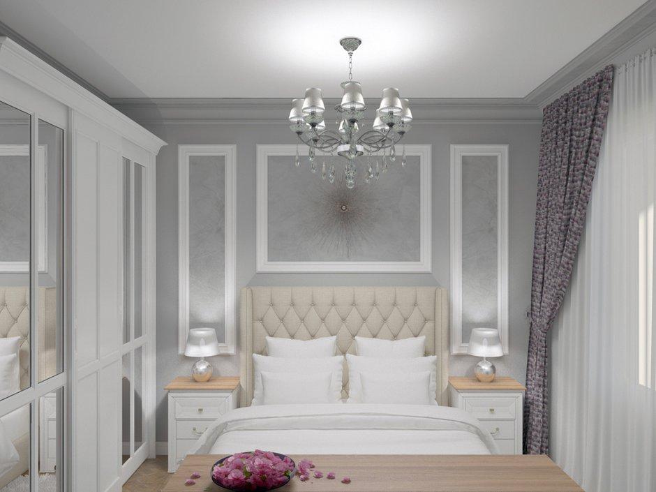 Фотография: Спальня в стиле Классический, Квартира, Проект недели, Москва, кухня-гостиная, новостройка, Елизавета Корешкова, Beau Interiors, гостиная в прихожей, Монолитный дом, 2 комнаты, 40-60 метров – фото на INMYROOM