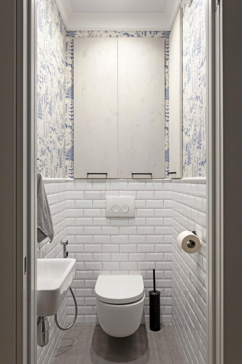 Фотография: Ванная в стиле Скандинавский, Квартира, Проект недели, Санкт-Петербург, 3 комнаты, 60-90 метров, Светлана Куксова – фото на INMYROOM