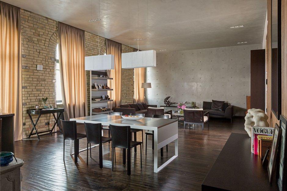 Фотография: Гостиная в стиле Лофт, Квартира, Украина, Дома и квартиры, Проект недели – фото на INMYROOM