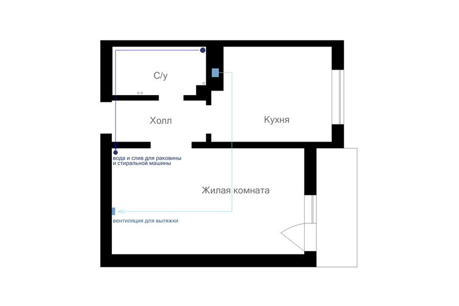 Фотография: Планировки в стиле , Квартира, Проект недели, Монолитный дом, 2 комнаты, 40-60 метров, Хабаровск, Анастасия Черкашина, ЖК «Шоколад» – фото на INMYROOM