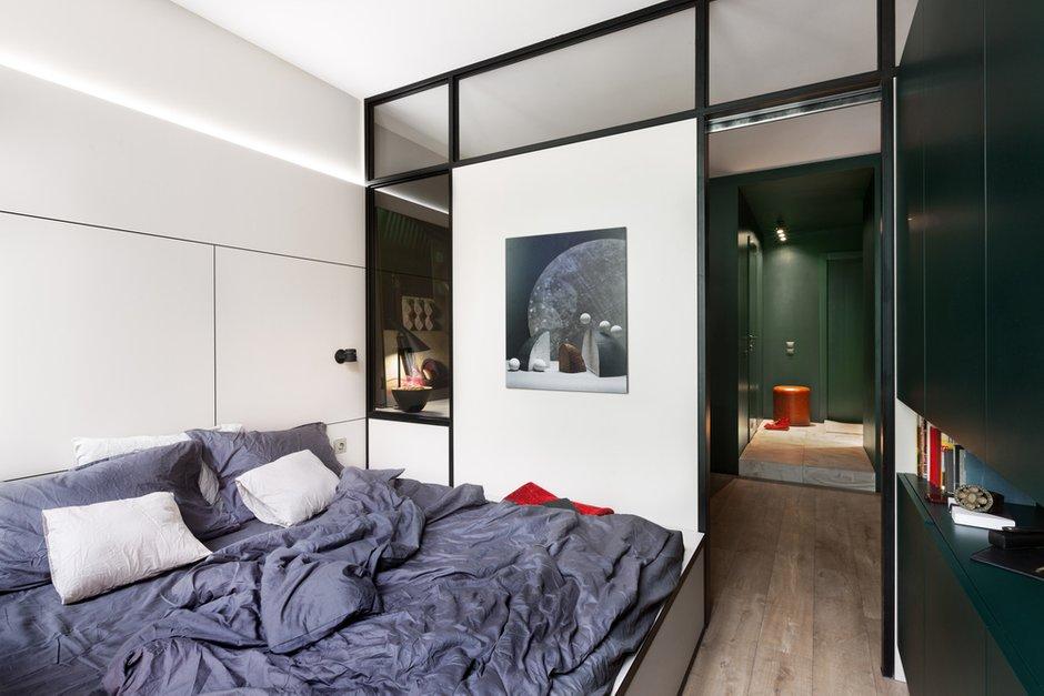 Фотография: Спальня в стиле Минимализм, Квартира, Проект недели, 2 комнаты, 40-60 метров, Елена Фатеева, Fateeva Design – фото на INMYROOM