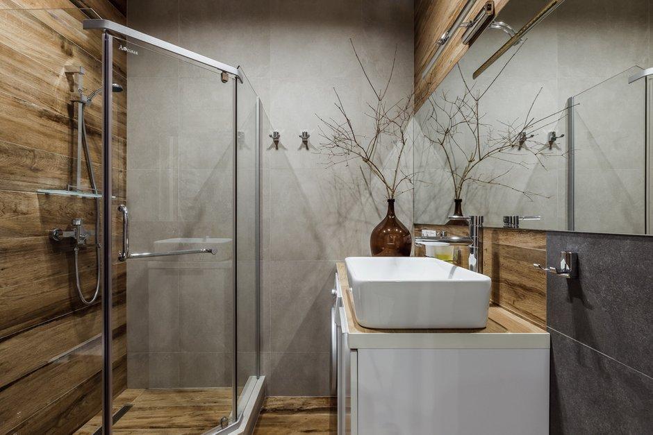 Фотография: Ванная в стиле Современный, Лофт, Квартира, Студия, Проект недели, до 40 метров, Денис Тарасенко, Адлер – фото на INMYROOM