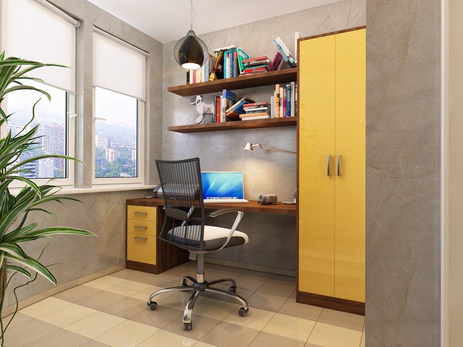 Фотография: Кабинет в стиле Современный, Лофт, Квартира, Проект недели – фото на INMYROOM
