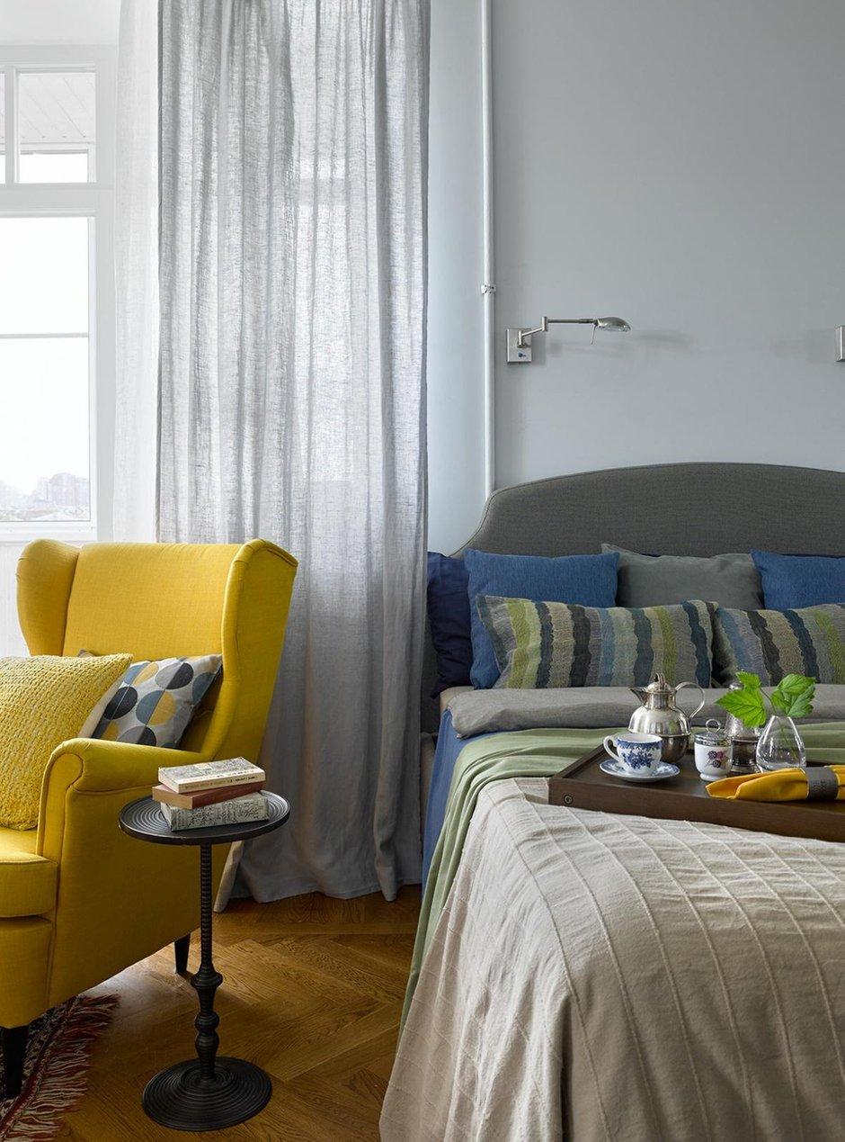 Фотография: Спальня в стиле Скандинавский, Проект недели, Москва, Сталинка, 3 комнаты, 60-90 метров, Инна Зольтманн – фото на INMYROOM