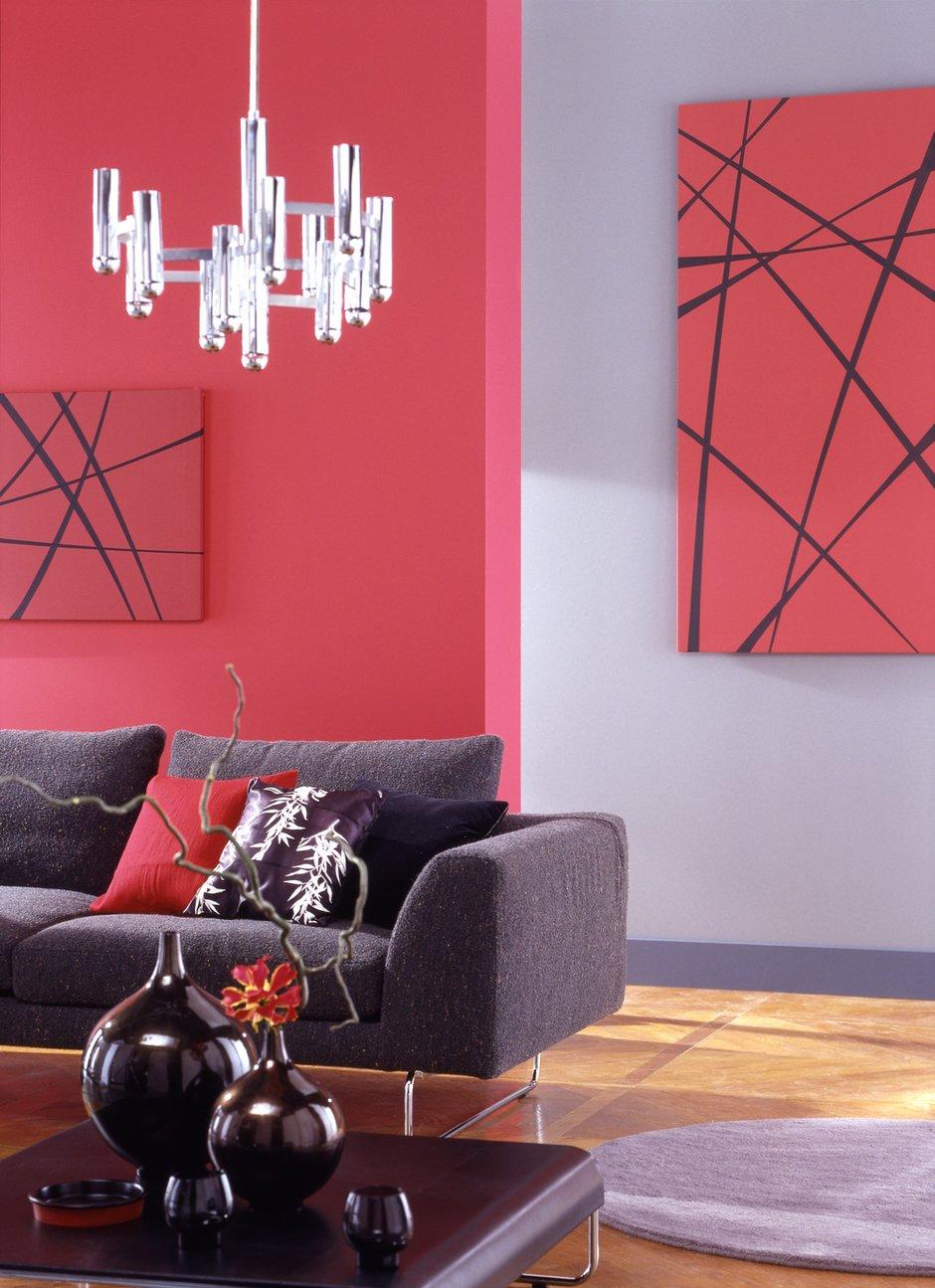 Фотография: Гостиная в стиле Современный, Декор интерьера, Дизайн интерьера, Цвет в интерьере, Красный – фото на INMYROOM