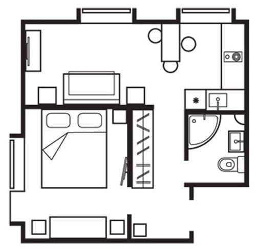 Фотография: Планировки в стиле , Эклектика, Квартира, Дома и квартиры, IKEA, Проект недели, Перепланировка, Москва, Zara Home – фото на INMYROOM