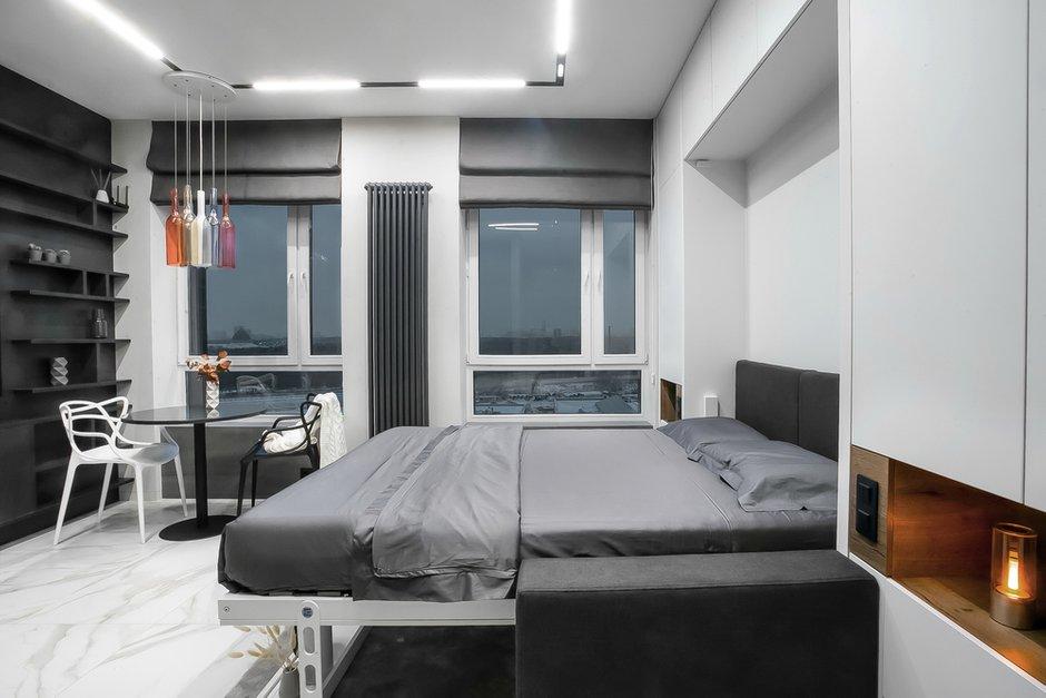 Фотография: Спальня в стиле Минимализм, Малогабаритная квартира, Квартира, Студия, Проект недели, Москва, до 40 метров, Виталий Мясников – фото на INMYROOM