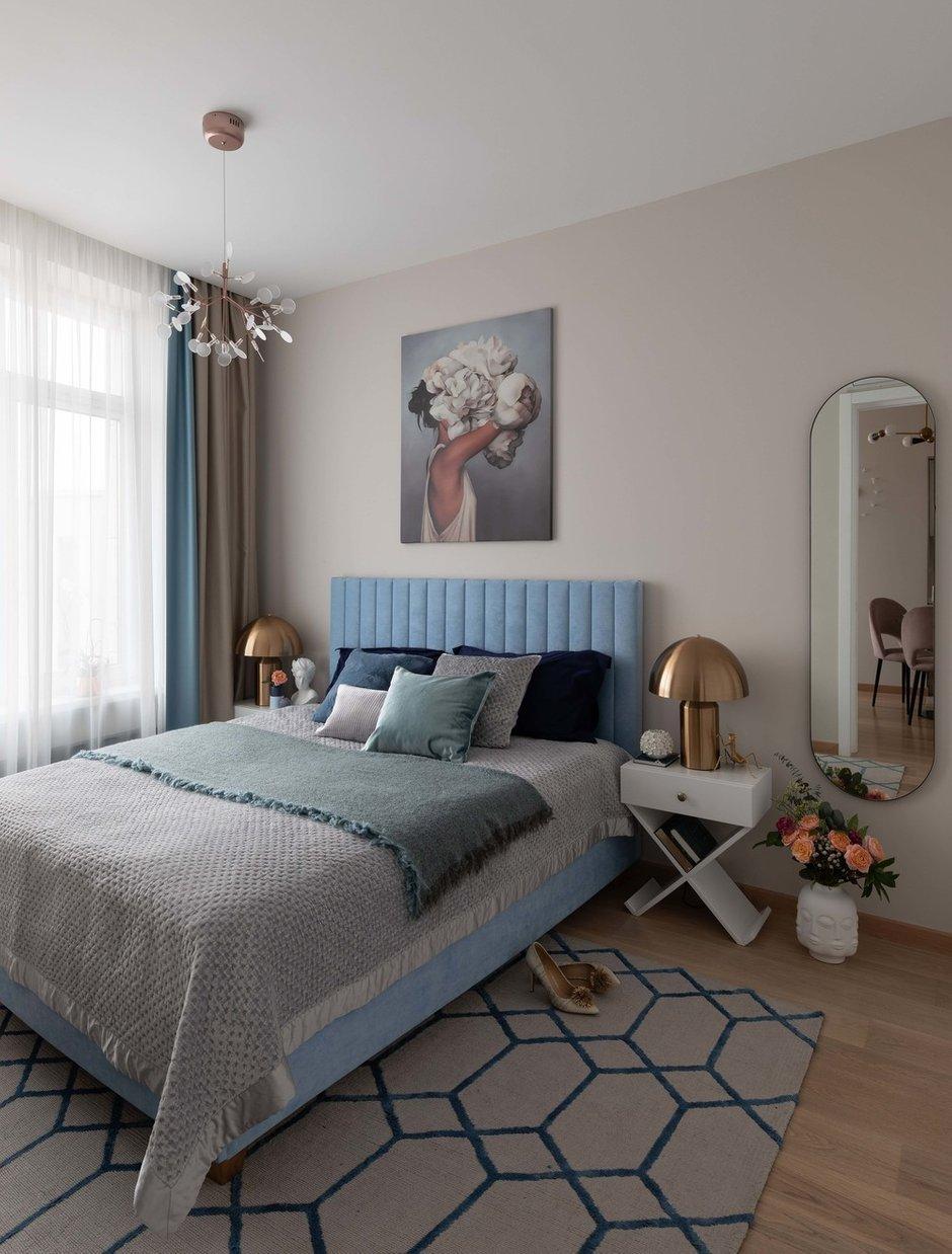 Фотография: Спальня в стиле Современный, Квартира, Проект недели, Москва, 2 комнаты, до 40 метров, Наталья Мукасьян – фото на INMYROOM