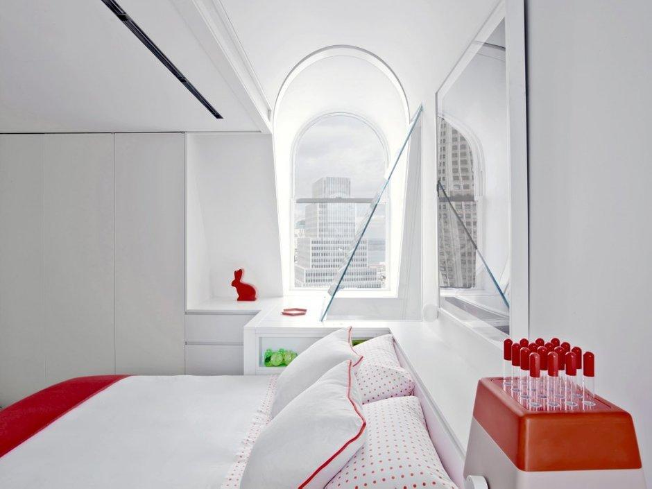 Фотография: Спальня в стиле Скандинавский, Лофт, Декор интерьера, Квартира, Цвет в интерьере, Дома и квартиры, Белый – фото на INMYROOM
