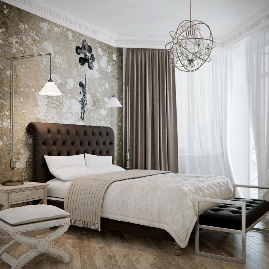 Фотография: Спальня в стиле Классический, Современный, Эклектика, Декор интерьера, Интерьер комнат, Цвет в интерьере, Коричневый – фото на INMYROOM