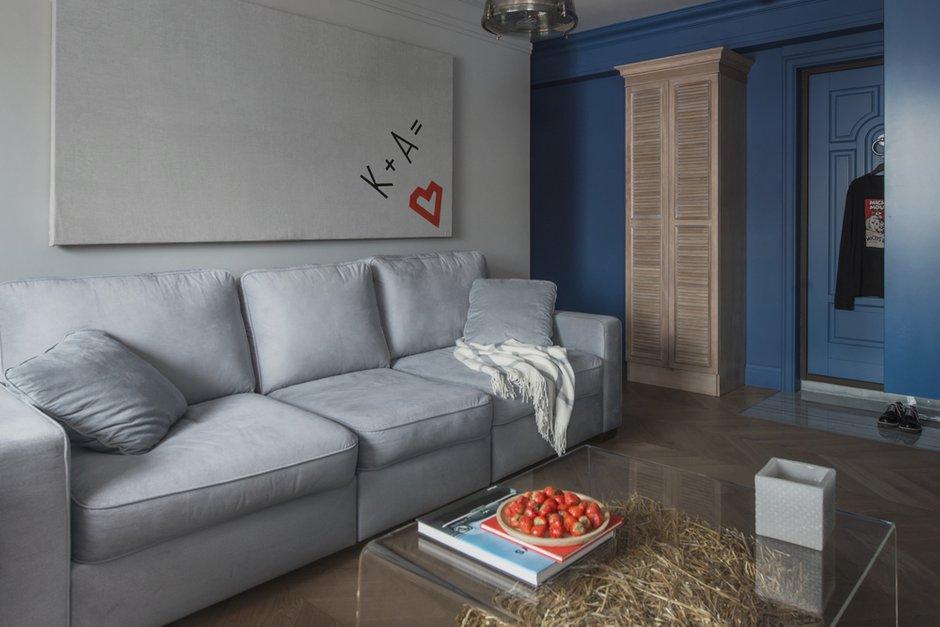 Фотография: Гостиная в стиле Эклектика, Квартира, Проект недели, Москва, Кирпичный дом, 3 комнаты, 40-60 метров, Маша Кунякина – фото на INMYROOM