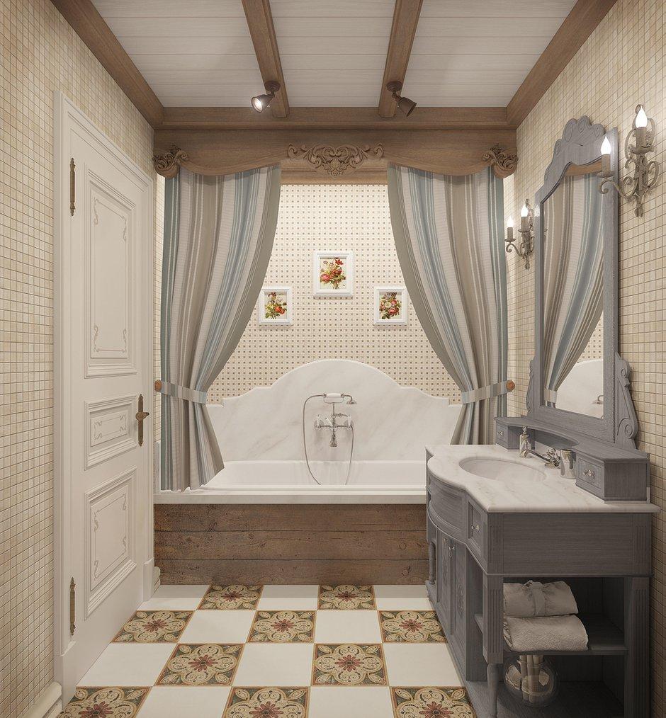 Фотография: Ванная в стиле Прованс и Кантри, Квартира, Дома и квартиры, Прованс, Проект недели – фото на InMyRoom.ru