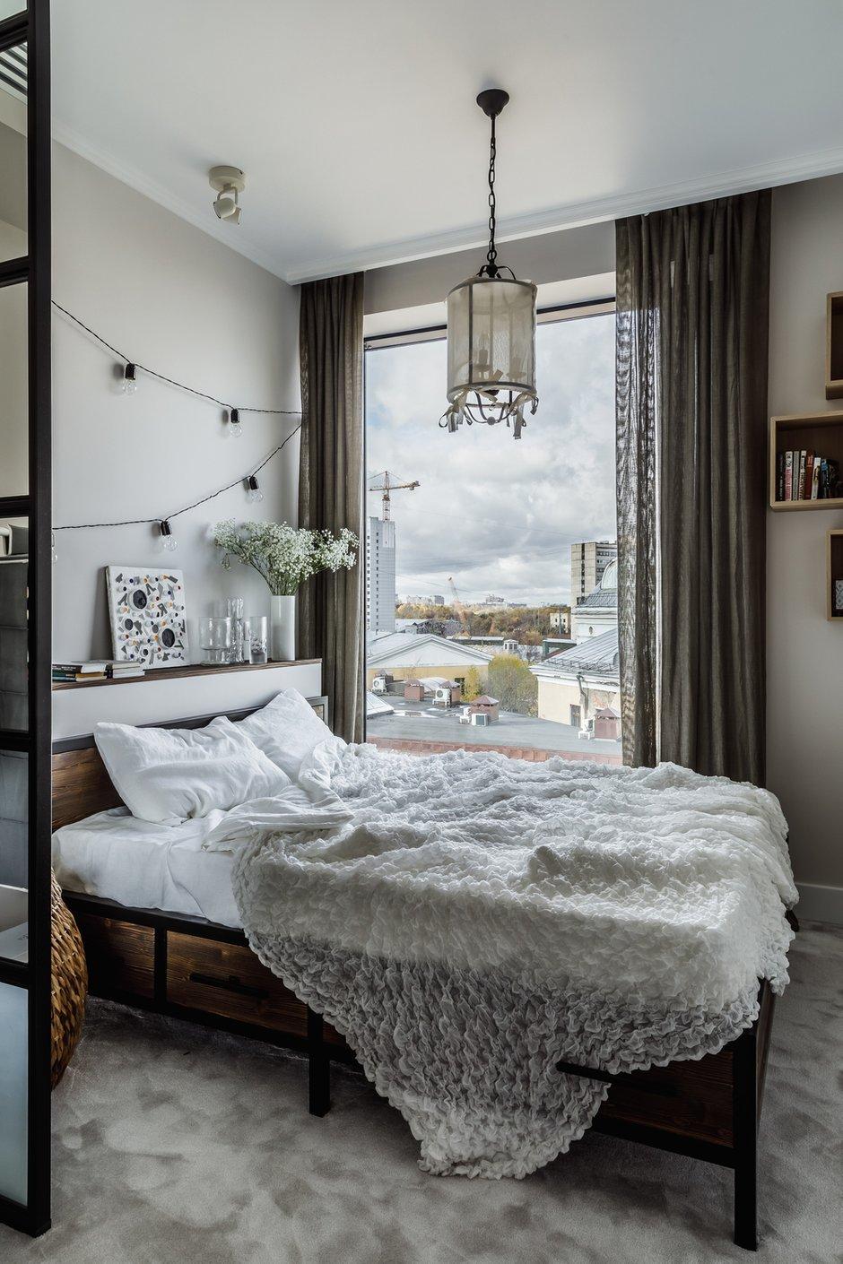 Фотография: Спальня в стиле Эклектика, Квартира, Проект недели, Москва, 3 комнаты, 60-90 метров, Анастасия Струве – фото на INMYROOM
