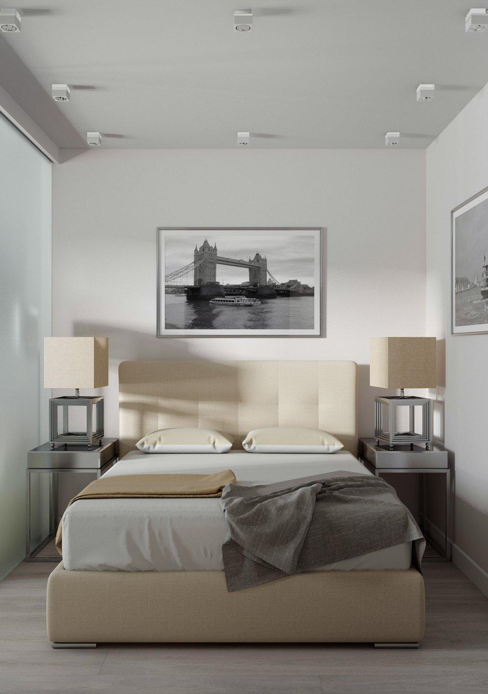 Фотография: Спальня в стиле Современный, Квартира, Проект недели, 1 комната, до 40 метров, Монолитно-кирпичный, Давид Сергеев, Ricco Interno – фото на INMYROOM
