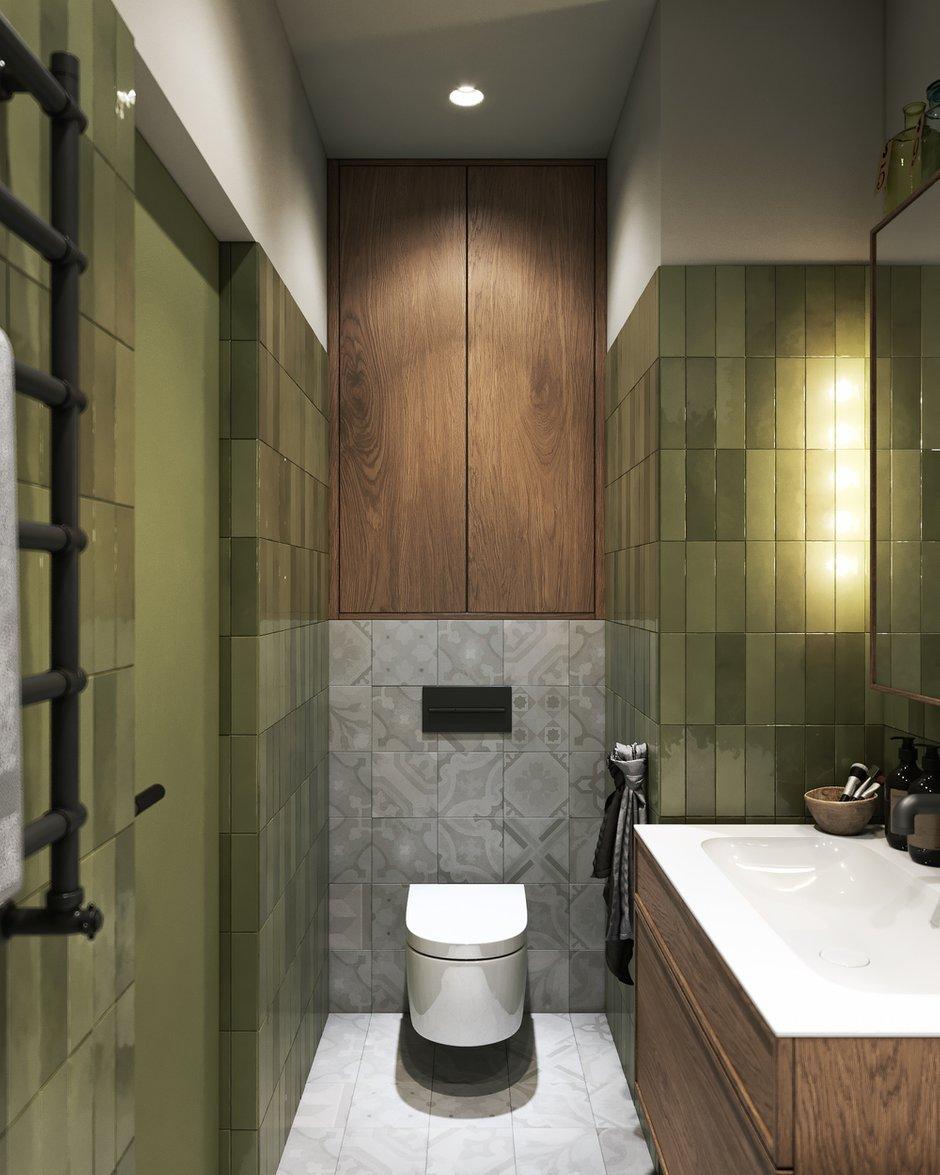 Фотография: Ванная в стиле Эклектика, Квартира, Проект недели, Москва, ToTaste Studio, 3 комнаты, 60-90 метров – фото на INMYROOM