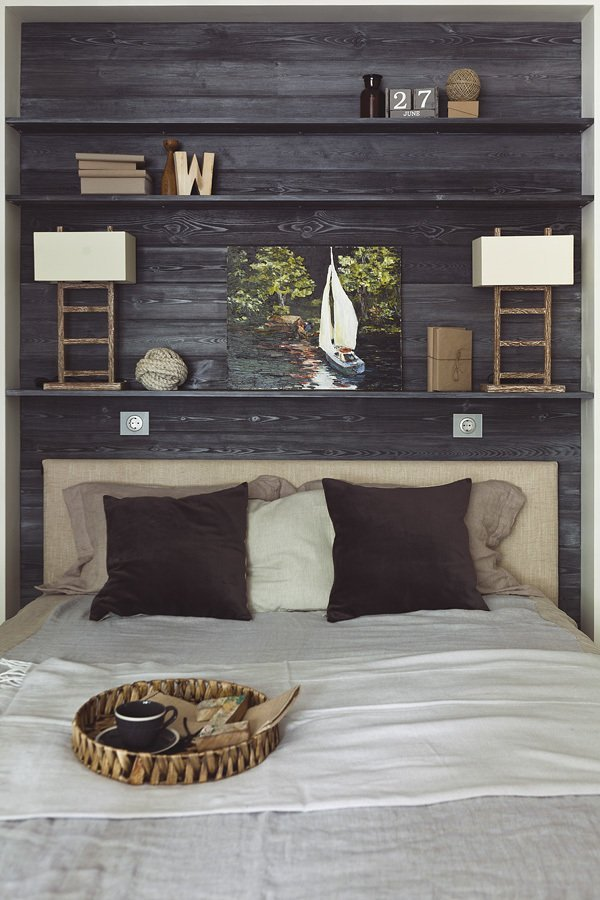 Фотография: Спальня в стиле Лофт, Скандинавский, Малогабаритная квартира, Квартира, Дома и квартиры, Проект недели – фото на INMYROOM