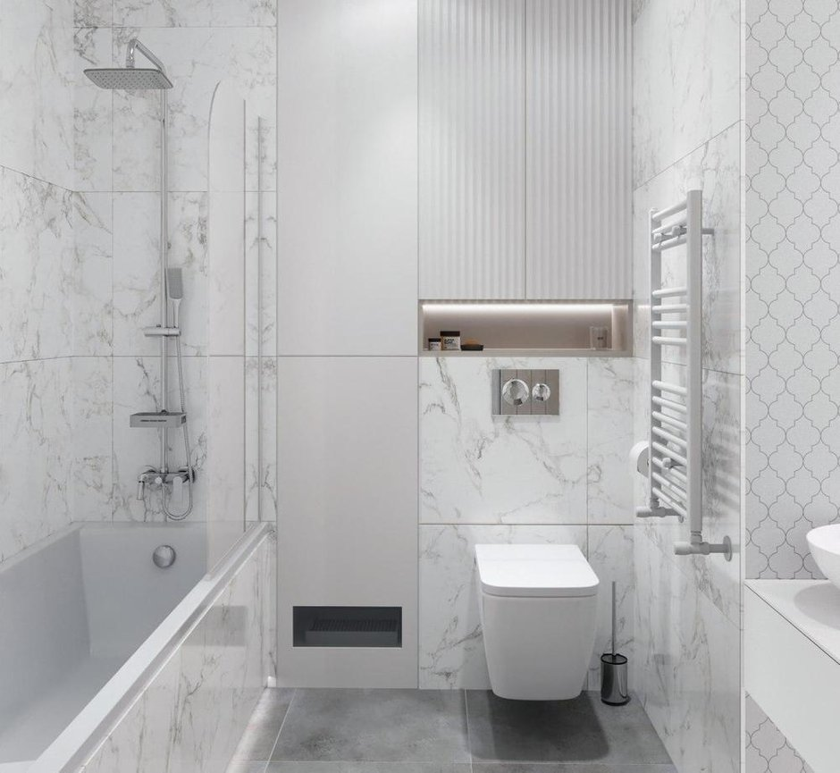 Фотография: Ванная в стиле Современный, Квартира, Проект недели, Минск, 2 комнаты, 40-60 метров, Mood2 – фото на INMYROOM
