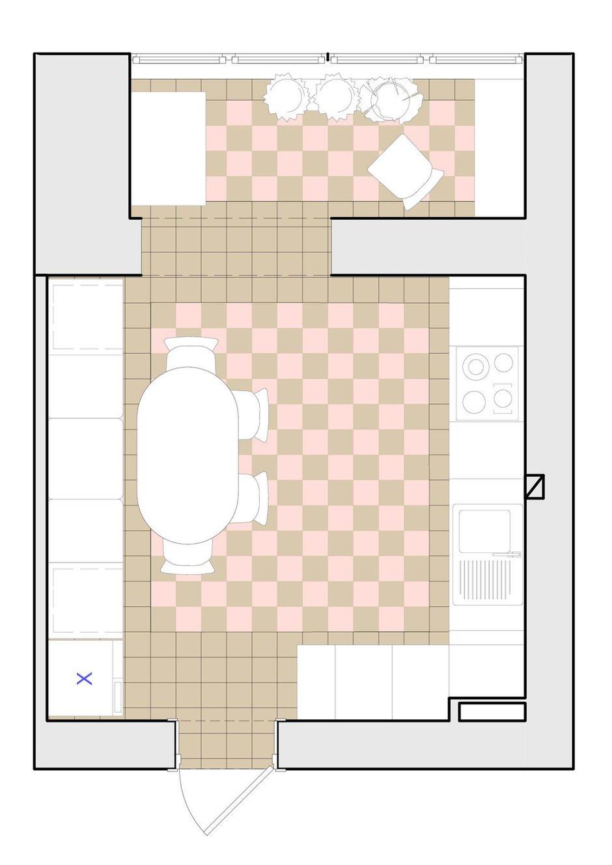 Фотография: Планировки в стиле , Кухня и столовая, Классический, Белый, Проект недели, Красный, Little Greene, как оформить балкон, Smeg, как оформить интерьер в классическом стиле, как оформить интерьер кухни, Vives ceramica, Самара, Nika d'Oro, Маша Яшина, DifferentRooms, дизайн кухни, цвет марсала, как присоединить балкон к кухне, кухня в русском стиле – фото на INMYROOM