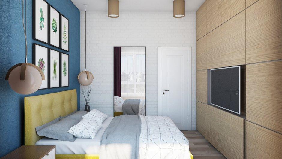 Фотография: Спальня в стиле Современный, Квартира, Проект недели, Химки, Евгения Матвеенко, FlatsDesign, Монолитный дом, 2 комнаты, 40-60 метров, ЖК Маяк – фото на INMYROOM